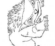 Coloriage dessin  Les croods 10