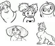 Coloriage dessin  Les croods 15