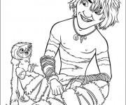 Coloriage dessin  Les croods 3