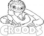 Coloriage dessin  Les croods 4