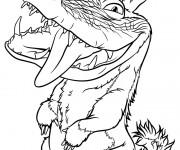 Coloriage dessin  Les croods 9