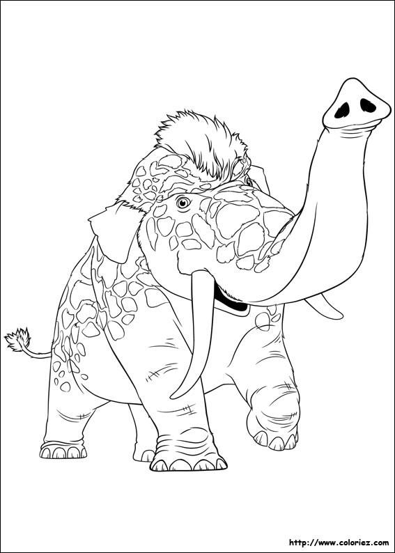 Coloriage et dessins gratuits Les croods  animal en couleur à imprimer