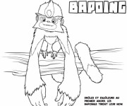 Coloriage Les croods Bapoing drôle