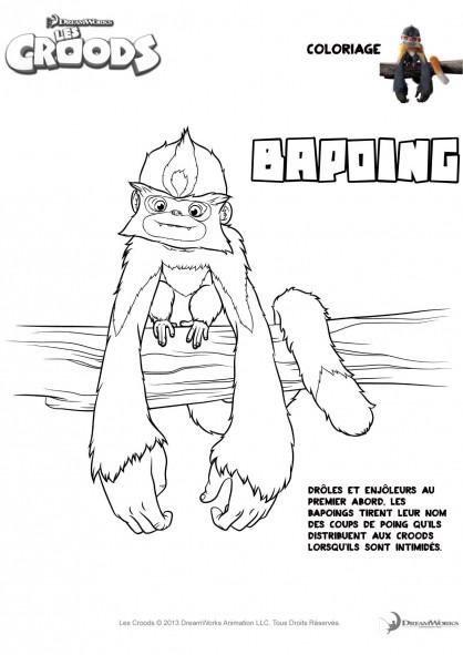 Coloriage et dessins gratuits Les croods Bapoing drôle à imprimer