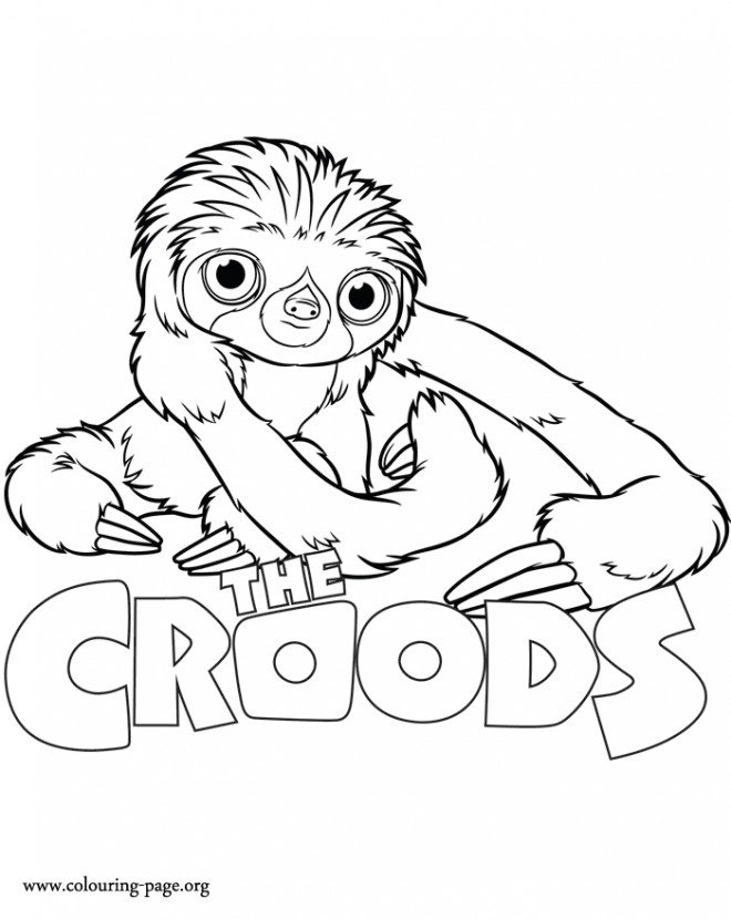 Coloriage et dessins gratuits Les croods Belt dessin animé à imprimer