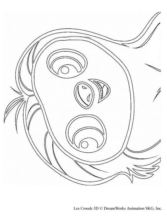 Coloriage et dessins gratuits Les croods Belt humoristique à imprimer