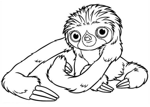 Coloriage et dessins gratuits Les croods Belt ouvrant ses yeux en ligne à imprimer
