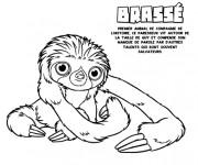 Coloriage et dessins gratuit Les croods Brassé paresseux à imprimer