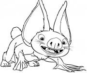 Coloriage Les croods Chauve-Copin dessin pour enfant