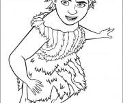 Coloriage Les croods  dessin Eep