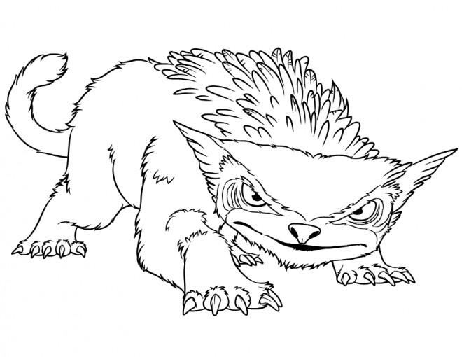 Coloriage et dessins gratuits Les croods dessin facile à imprimer