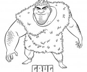 Coloriage Les croods dessin grug