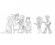 Coloriage Les croods dessin humoristique