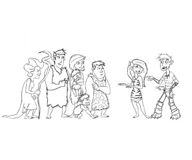 Coloriage et dessins gratuits Les croods dessin humoristique à imprimer