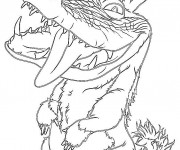 Coloriage Les croods Douglas dessin