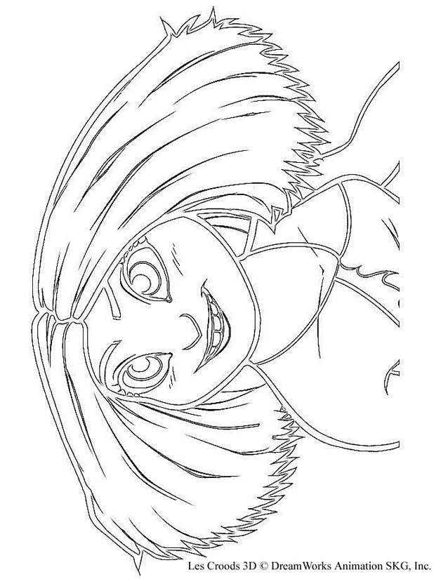 Coloriage et dessins gratuits Les croods Eep te regarde à imprimer