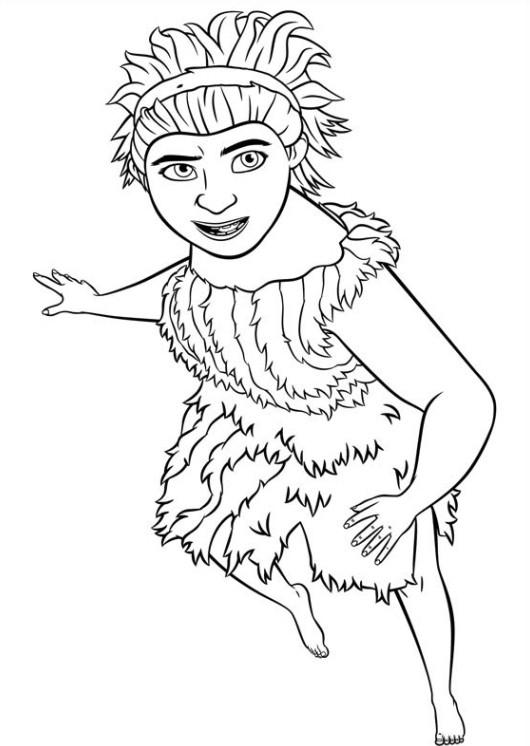 Coloriage et dessins gratuits Les croods en couleur à imprimer