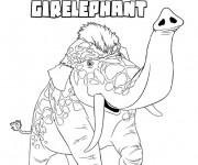 Coloriage Les croods Girelephant en couleur