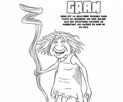 Coloriage et dessins gratuit Les croods Gran et son bâton à imprimer