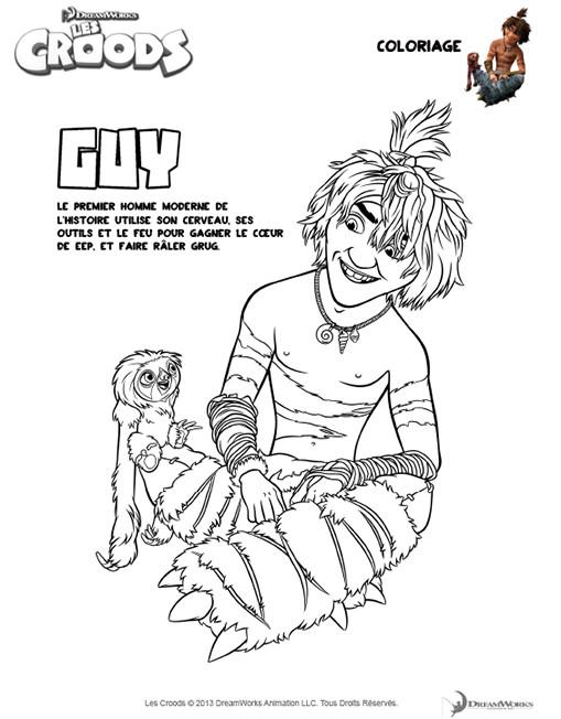 Coloriage et dessins gratuits Les croods Guy dessin à imprimer