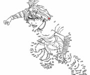Coloriage Les croods Guy dessin à completer