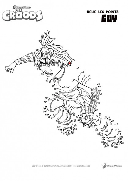 Coloriage et dessins gratuits Les croods Guy dessin à completer à imprimer
