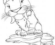 Coloriage Les croods le tiger dessin
