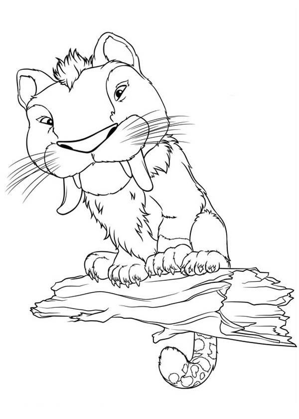 Coloriage et dessins gratuits Les croods le tiger dessin à imprimer