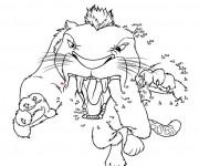 Coloriage Les croods Perroquivore attaque dessin animé