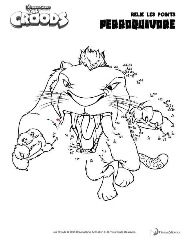 Coloriage et dessins gratuits Les croods Perroquivore attaque dessin animé à imprimer