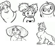 Coloriage Les croods personnages