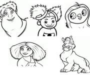 Coloriage et dessins gratuit Les croods personnages à imprimer