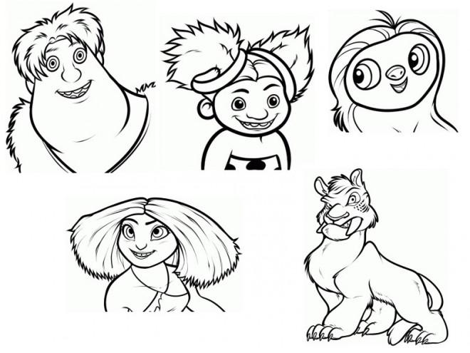 Coloriage et dessins gratuits Les croods personnages à imprimer