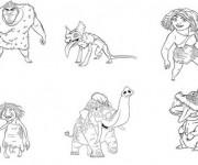Coloriage Les croods personnages disney