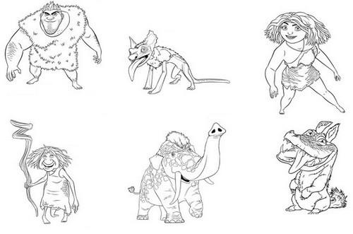 Coloriage et dessins gratuits Les croods personnages disney à imprimer