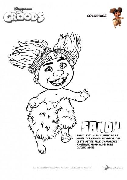 Coloriage et dessins gratuits Les croods Sandy en couleur à imprimer