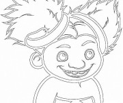 Coloriage Les croods Sandy en souriant