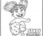 Coloriage et dessins gratuit Les croods Sandy  l'enfant sauvage dessin à imprimer