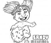 Coloriage Les croods Sandy la petite fille