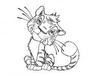 Coloriage et dessins gratuit Les croods Tigre à imprimer