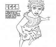 Coloriage et dessins gratuit Les croods Ugga la raisonnable à imprimer