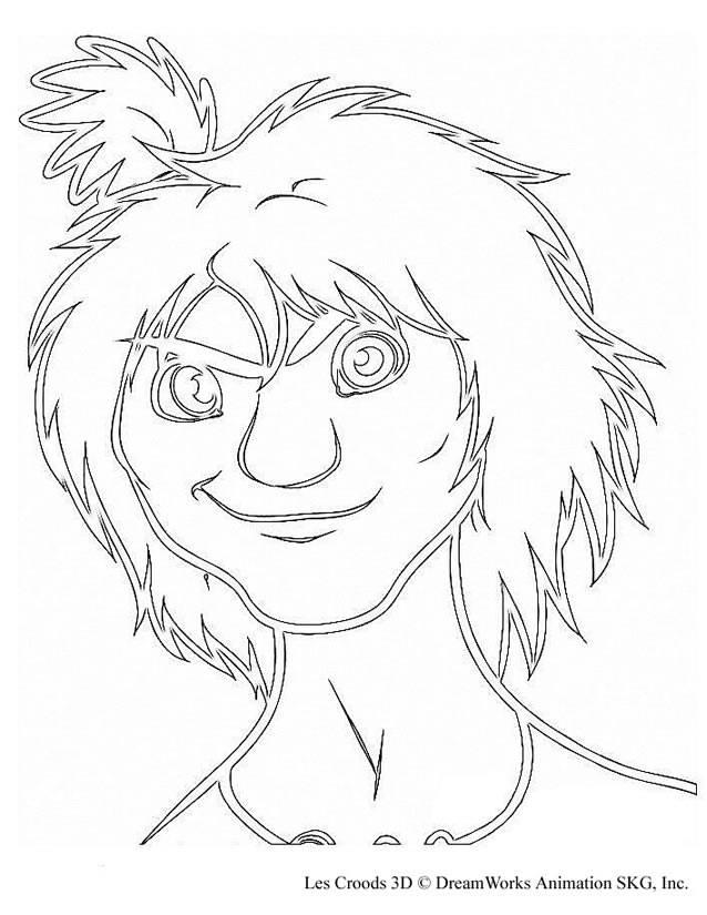 Coloriage et dessins gratuits Les croods visage à colorier à imprimer