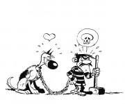 Coloriage Jack et un chien en ligne