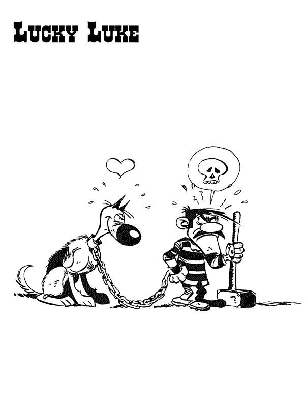 Coloriage et dessins gratuits Jack et un chien en ligne à imprimer