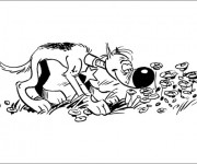 Coloriage dessin  Les Dalton 19
