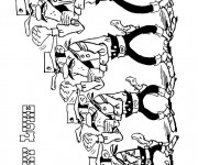 Coloriage dessin  Les Dalton 4