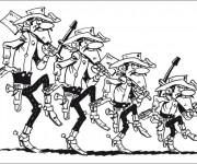 Coloriage Les Dalton dessin animé