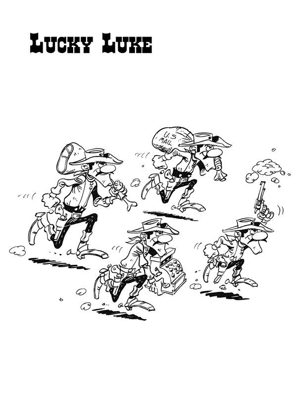 Coloriage et dessins gratuits Les Dalton volent cartoon à imprimer