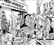 Coloriage Les Daltons dans le bar dessin animé