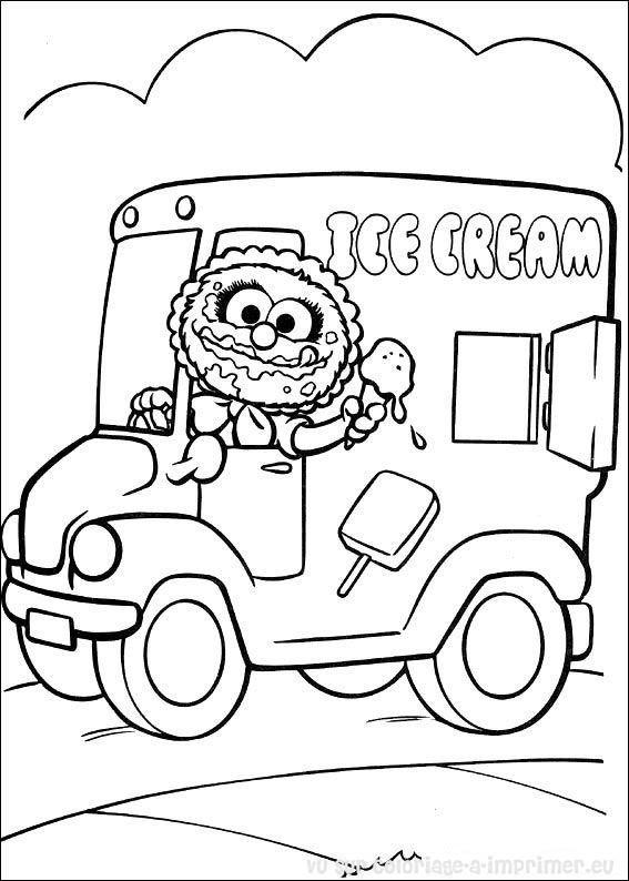 Coloriage et dessins gratuits Animal mange la glace en ligne à imprimer